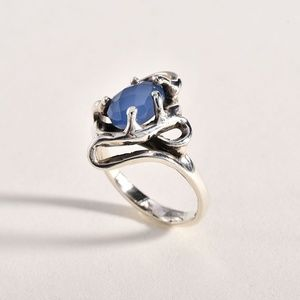 950 Sterling Blue Chalcedony Ring
